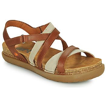 Topánky Ženy Sandále Art RHODES Hnedá