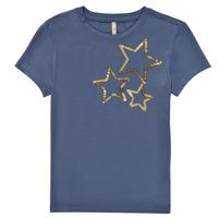 Oblečenie Dievčatá Tričká s krátkym rukávom Only KONMOULINS STAR Modrá