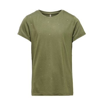Oblečenie Dievčatá Tričká s krátkym rukávom Only KONMOULINS Kaki