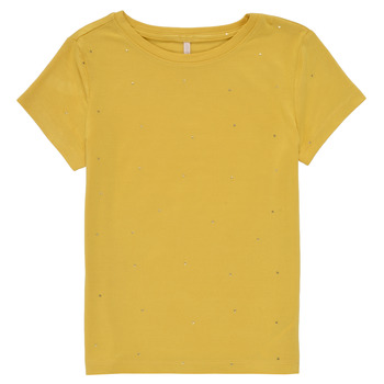 Oblečenie Dievčatá Tričká s krátkym rukávom Only KONMOULINS Žltá