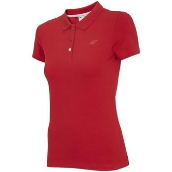 Oblečenie Ženy Polokošele s krátkym rukávom 4F TSD008 Červená