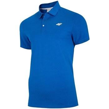 Oblečenie Muži Polokošele s krátkym rukávom 4F TSM007 Modrá