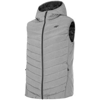 Oblečenie Muži Vyteplené bundy 4F KUMP002 Sivá