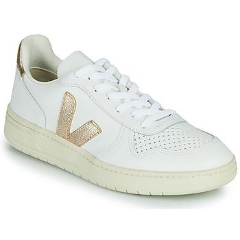 Topánky Ženy Nízke tenisky Veja V-10 Biela / Zlatá