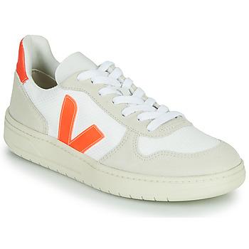 Topánky Nízke tenisky Veja V-10 Biela / Oranžová