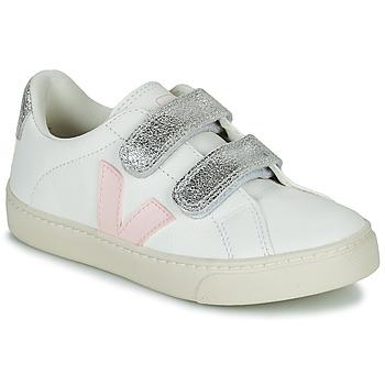 Topánky Dievčatá Nízke tenisky Veja SMALL ESPLAR VELCRO Biela / Zlatá