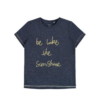 Oblečenie Dievčatá Tričká s krátkym rukávom Name it NKFDEVIRA Námornícka modrá