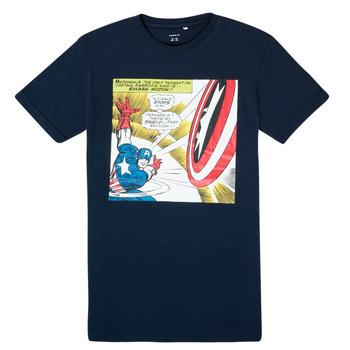 Oblečenie Chlapci Tričká s krátkym rukávom Name it MARVEL Námornícka modrá