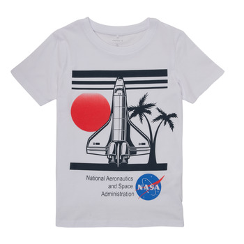 Oblečenie Chlapci Tričká s krátkym rukávom Name it NASA Biela