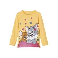 Oblečenie Dievčatá Tričká s dlhým rukávom Name it TOM&JERRY Žltá