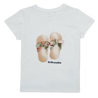Oblečenie Dievčatá Tričká s krátkym rukávom Name it NMFFISUMMER Biela