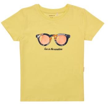 Oblečenie Dievčatá Tričká s krátkym rukávom Name it NMFFISUMMER Žltá
