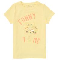 Oblečenie Dievčatá Tričká s krátkym rukávom Name it NMFFEFA Žltá