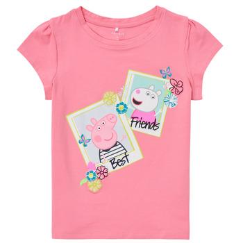 Oblečenie Dievčatá Tričká s krátkym rukávom Name it PEPPAPIG Ružová