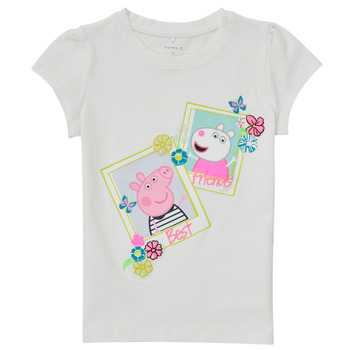 Oblečenie Dievčatá Tričká s krátkym rukávom Name it PEPPAPIG Biela