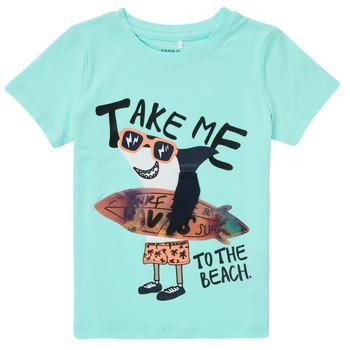 Oblečenie Chlapci Tričká s krátkym rukávom Name it NMMFANO Modrá