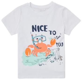 Oblečenie Chlapci Tričká s krátkym rukávom Name it NMMFANO Biela
