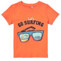 Oblečenie Chlapci Tričká s krátkym rukávom Name it NMMFANO Oranžová