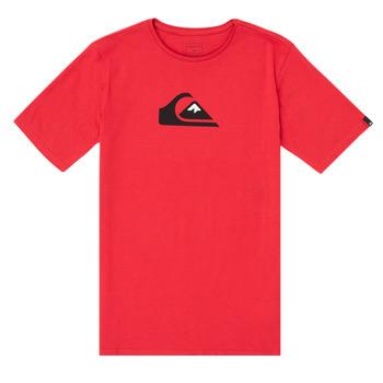 Oblečenie Chlapci Tričká s krátkym rukávom Quiksilver COMP LOGO Červená