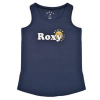 Oblečenie Dievčatá Tielka a tričká bez rukávov Roxy THERE IS LIFE FOIL Námornícka modrá