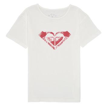 Oblečenie Dievčatá Tričká s krátkym rukávom Roxy DAY AND NIGHT PRINT Biela