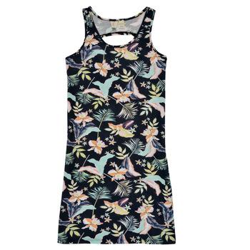 Oblečenie Dievčatá Krátke šaty Roxy FLOWER SHADOW DRESS Čierna
