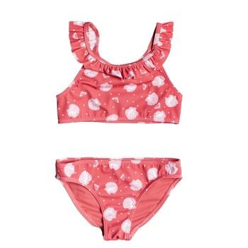Oblečenie Dievčatá Plavky dvojdielne Roxy TEENY EVERGLOW CROP TOP SET Ružová