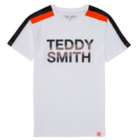 Oblečenie Chlapci Tričká s krátkym rukávom Teddy Smith T-MACK Biela
