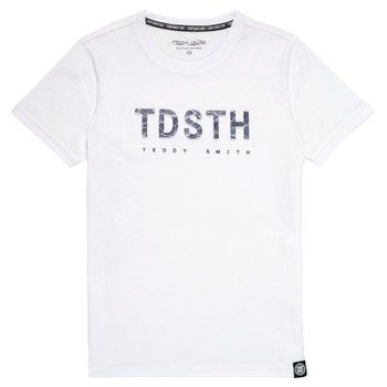 Oblečenie Chlapci Tričká s krátkym rukávom Teddy Smith T-MAX Biela
