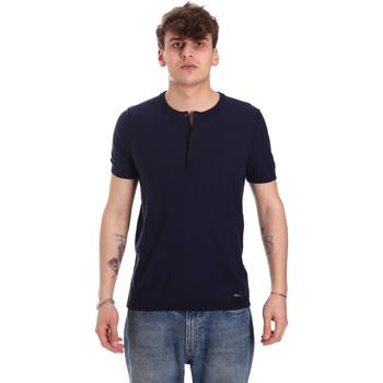 Oblečenie Muži Tričká s krátkym rukávom Gaudi 011BU53007 Modrá