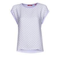 Oblečenie Ženy Tričká s krátkym rukávom S.Oliver 14-1Q1-32-6972-48B2 Modrá