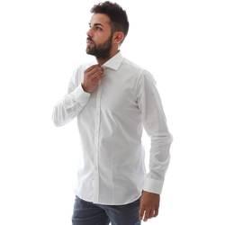 Oblečenie Muži Košele s dlhým rukávom Gmf EQ2 1428 951106/01 Biely