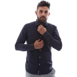 Oblečenie Muži Košele s dlhým rukávom Gmf EQ2 1079 952151/02 Modrá