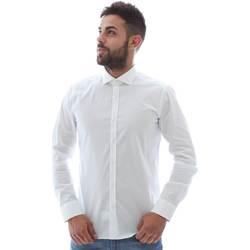 Oblečenie Muži Košele s dlhým rukávom Gmf GMF5 4864 8 Biely