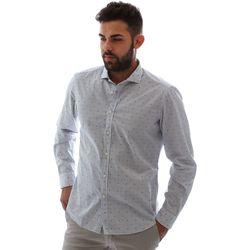 Oblečenie Muži Košele s dlhým rukávom Gmf 961232/4 Biely