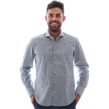 Oblečenie Muži Košele s dlhým rukávom Gmf 961231/4 Modrá