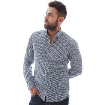 Oblečenie Muži Košele s dlhým rukávom Gmf 961151/3 Modrá