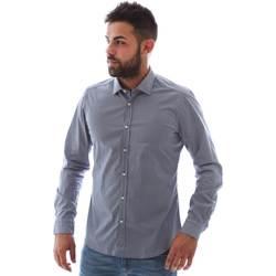 Oblečenie Muži Košele s dlhým rukávom Gmf 961146/2 Modrá