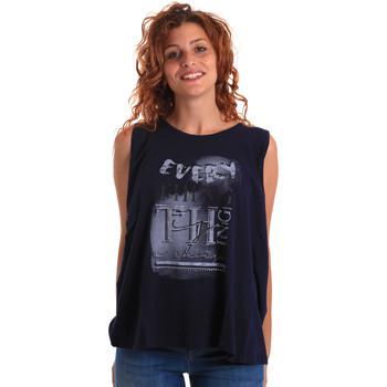 Oblečenie Ženy Tielka a tričká bez rukávov Key Up 5Z14S 0001 Modrá