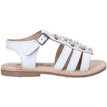 Topánky Dievčatá Sandále Asso 65954 Biely
