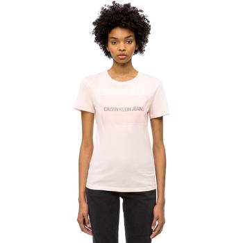 Oblečenie Ženy Tričká s krátkym rukávom Calvin Klein Jeans J20J208606 Ružová