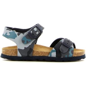 Topánky Dievčatá Sandále Grunland SB0169 Modrá