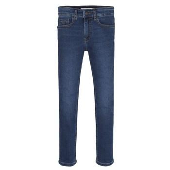 Oblečenie Chlapci Rifle Skinny  Calvin Klein Jeans ESSENTIAL ROYAL BLUE STRETCH Modrá