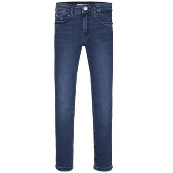 Oblečenie Dievčatá Rifle Skinny  Calvin Klein Jeans SKINNY ESS ROYAL BLUE Modrá