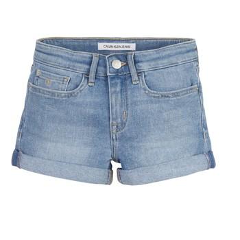 Oblečenie Dievčatá Šortky a bermudy Calvin Klein Jeans SLIM SHORT ESS Modrá