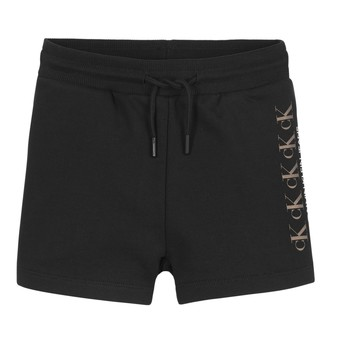 Oblečenie Dievčatá Šortky a bermudy Calvin Klein Jeans CK REPEAT FOIL KNIT SHORTS Čierna