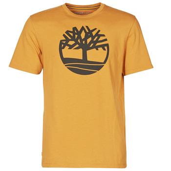 Oblečenie Muži Tričká s krátkym rukávom Timberland SS KENNEBEC RIVER BRAND TREE TEE Ťavia hnedá