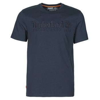 Oblečenie Muži Tričká s krátkym rukávom Timberland SS OUTDOOR HERITAGE LINEAR LOGO TEE REGULAR Námornícka modrá
