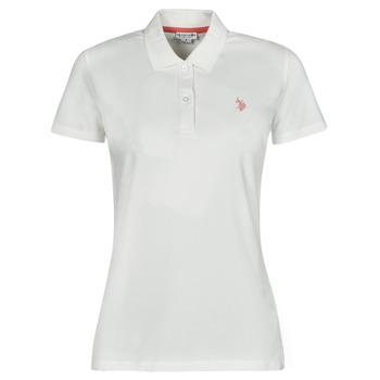 Oblečenie Ženy Polokošele s krátkym rukávom U.S Polo Assn. LOGO POLO SS Biela