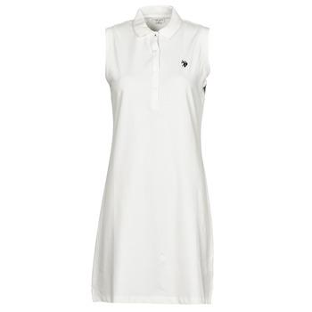 Oblečenie Ženy Krátke šaty U.S Polo Assn. AMY DRESS POLO SLEEVELESS Biela